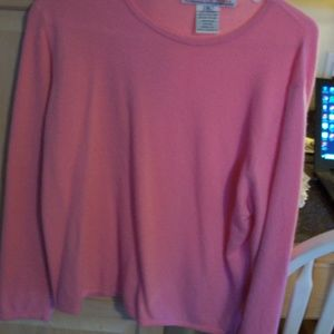 QUEEN OF SCOTS 100% CASHMERE PINK SWEATER XL